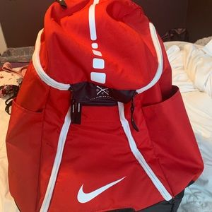 Red Nike Quad Zip Backpack